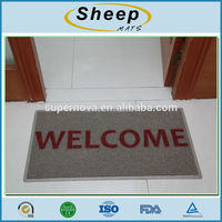 Recycled Anti Slip Customized Carpet Entrance Welcome Floor Mats Custom Print Door Mat