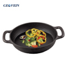 Pre seasoned Spanish cast iron two handle paella fry pan