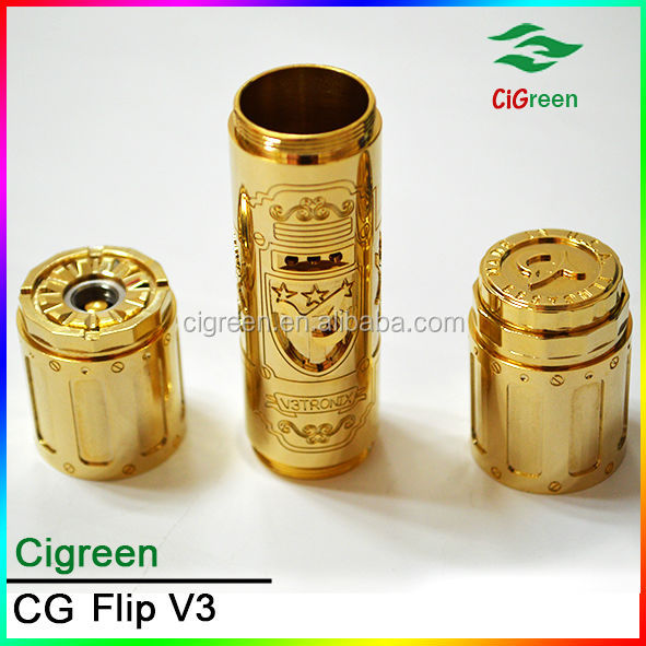 2014 Cigreen hot selling alibaba China gift brass flip mod v3 tronix mod