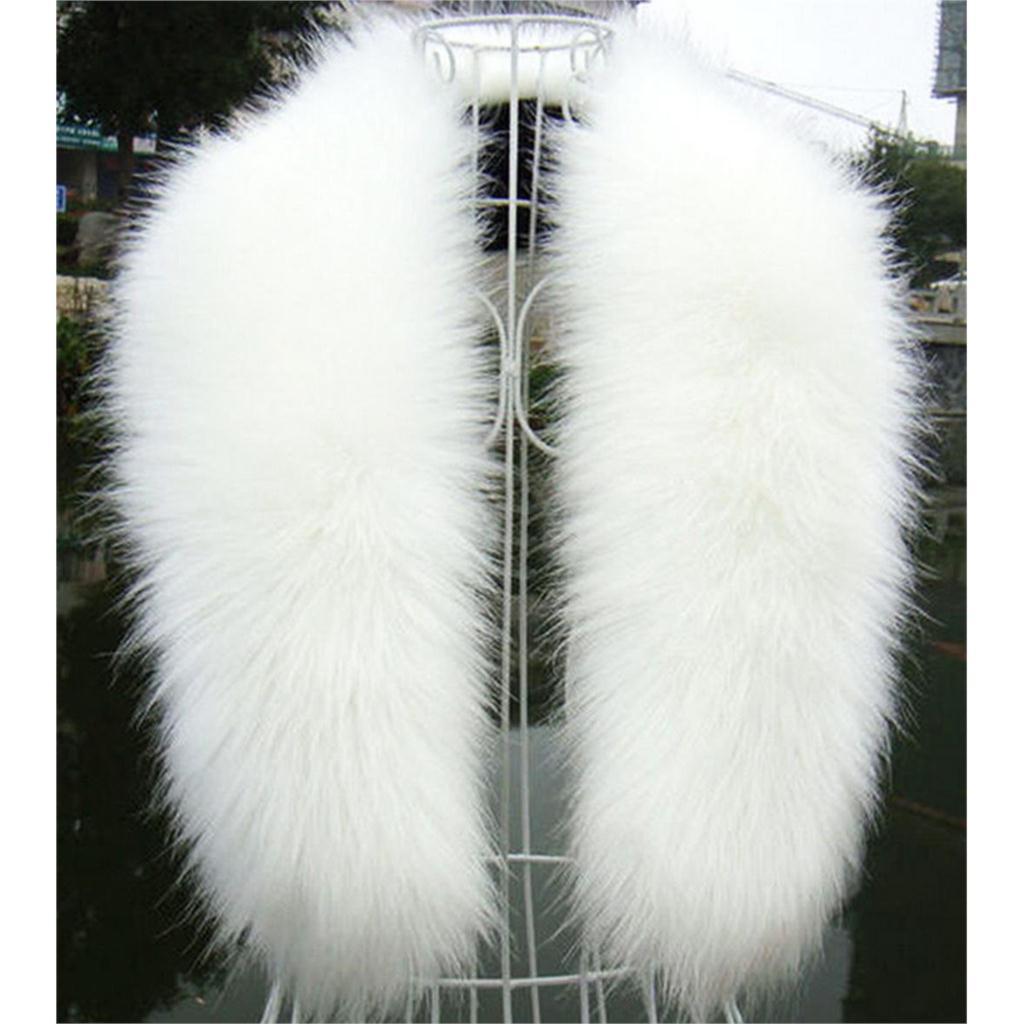 White Fur Stole >> Wholesale New Winter Fashion Luxury Artificial Fox Fur Collar Scarf Warm Warmer Shawl Stole White