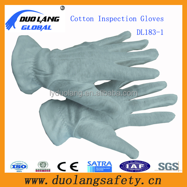 kids disposable thin white cotton gloves waiters cotton gloves
