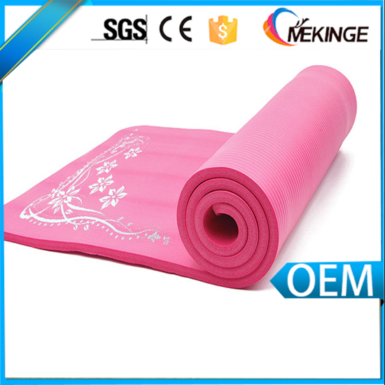 Portable neoprene yoga mat digital print design yoga mats with slings