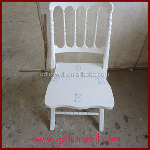 White wooden Banquet chair Chiavari chair Napoleon chairs
