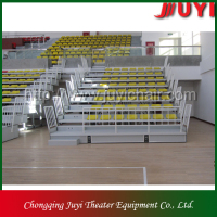 JY-706 factory price basketball bleacher with CE certificate metal structure portable bleacher
