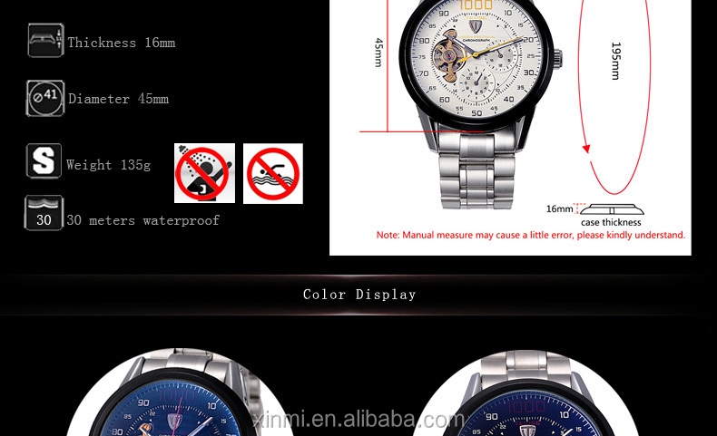 6d63c26cc Top Brand Men Watch Automatic Mechanical Watches Big Chronograph Clock Mens  Wristwatches Military Watches