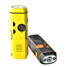NEW ARRIVAL USB rechargeable Hand Crank AM FM Radio LED torch flashlight