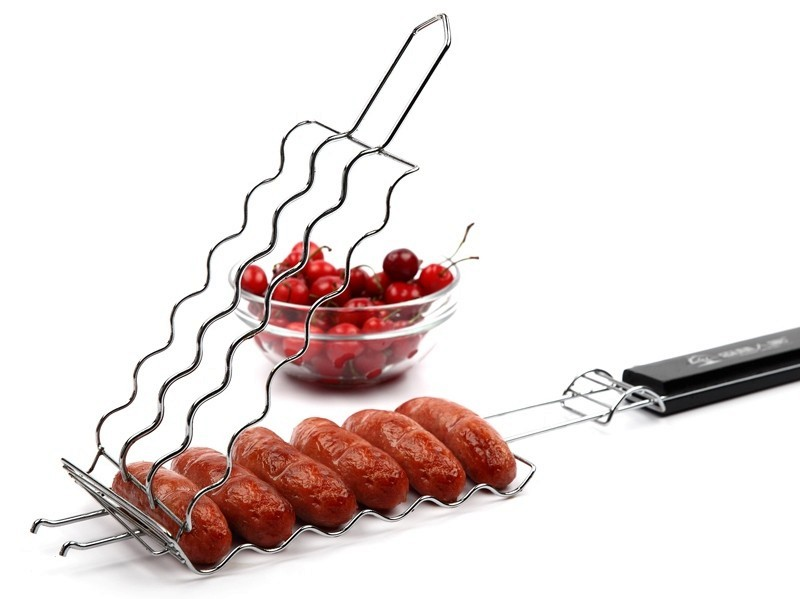 Barbecue Barbecue Saucisses Griller Panier Hot dog Barbecue