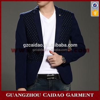 Fashion Fancy Polka Dot Man Casual Suit Jacket Buy Mens Casual