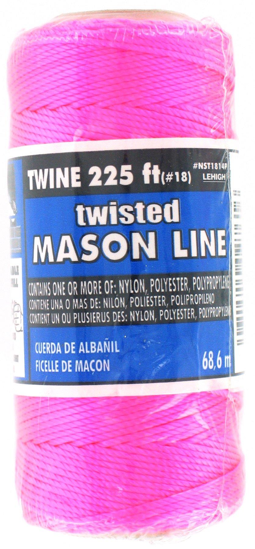 Lehigh Group NST1814PW-P Nylon Seine Twine, 225', Neon Pink