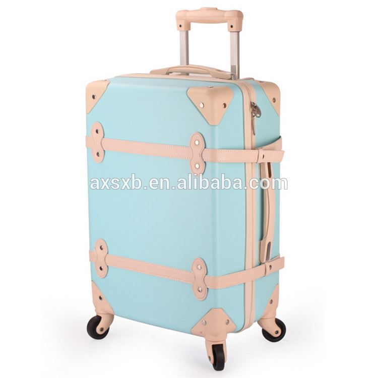 New selling contemporary strong trolley luggage abs zipper suitcase