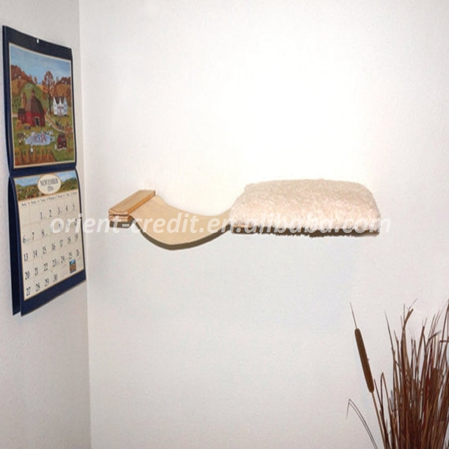 Cat Hammock Bed Combo Wall Mounted Cat Bed Perch Shelf Cat Furniture Hand  Crafted Natural Wood