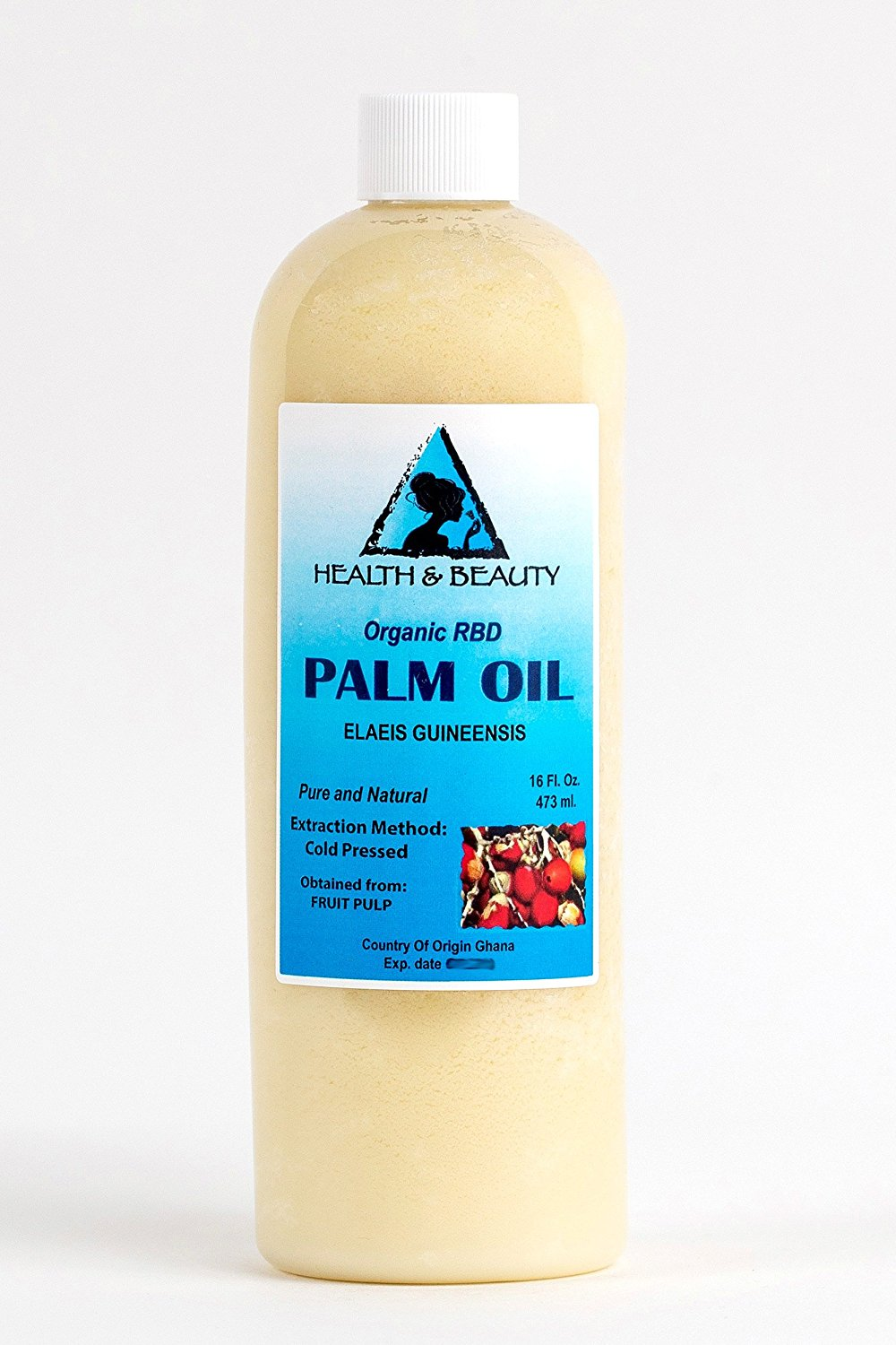 Palm Oil RBD Organic Carrier Cold Pressed Pure 48 oz