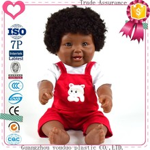 Guangzhou factory wholesale black baby dolls toys real looking toy baby doll for kid