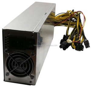 China Power Supply Manufacturer Wholesale 1600w 1800w 2000w 2400w Mining Power Supply 12v for ASIC Miner GPU Miner