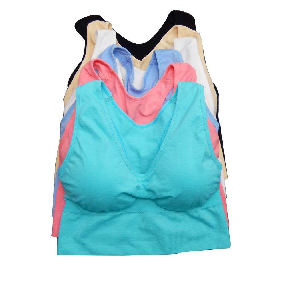 b155f7ec606 Get Quotations · Viola s Secret Women Sports Bras Lot 1 or 6 Packs of Plus  Size Wire Free Seamless