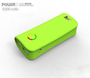 X5 Mobile® 5200 mAh External Battery Pack Power Bank with Dual USB Super Charge for iPhone 6 6 Plus 6S 6S Plus, iPad, Samsung Galaxy, and All Cell Phones (Green)