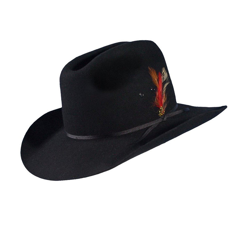 Get Quotations · Black Felt Cattleman Hat by Turner Hat (Cowboy Hat) 5cf9438e763