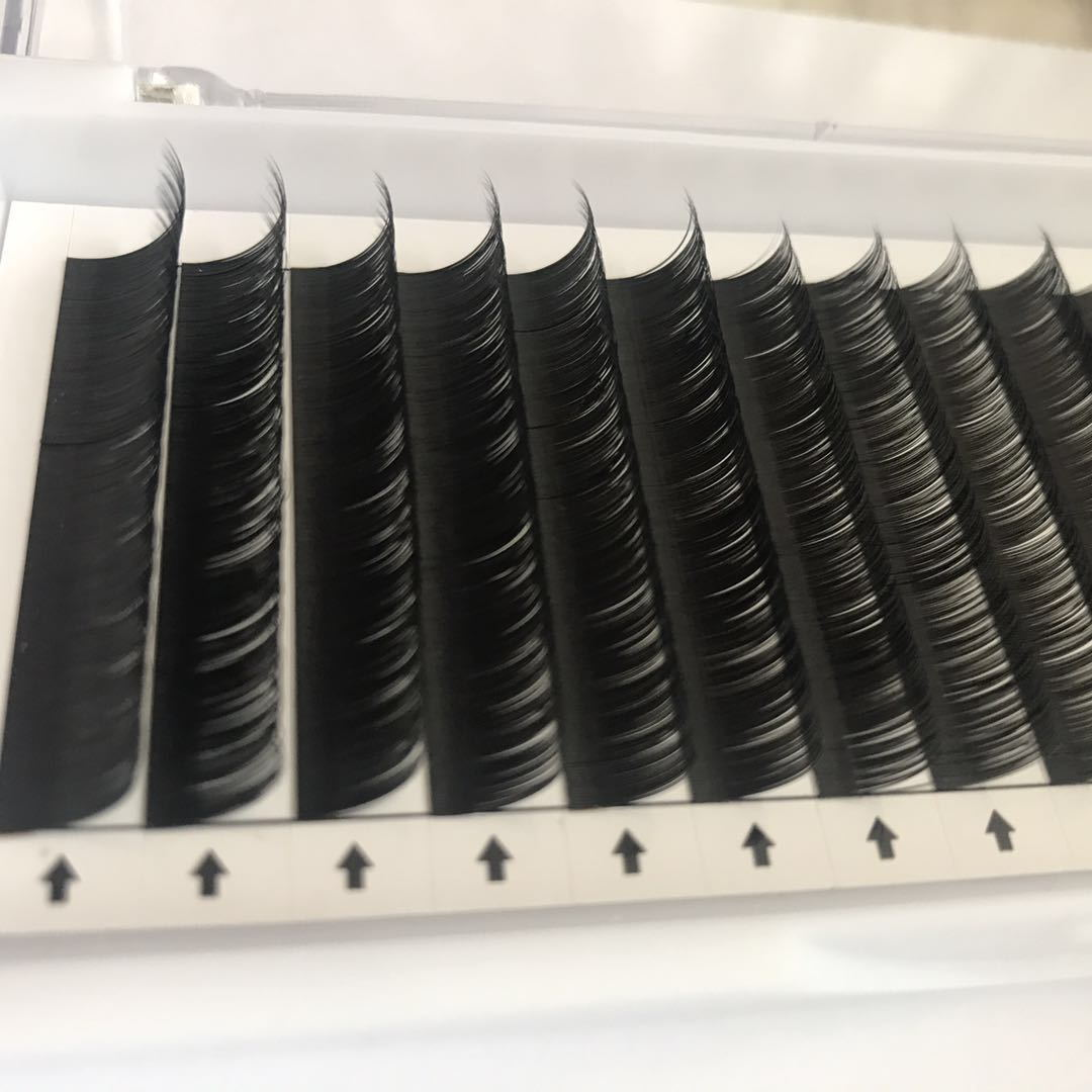 Custom eyelash packaging private label russian volume lashes tray 0.03 0.05 0.07 16lines single extension eyelash