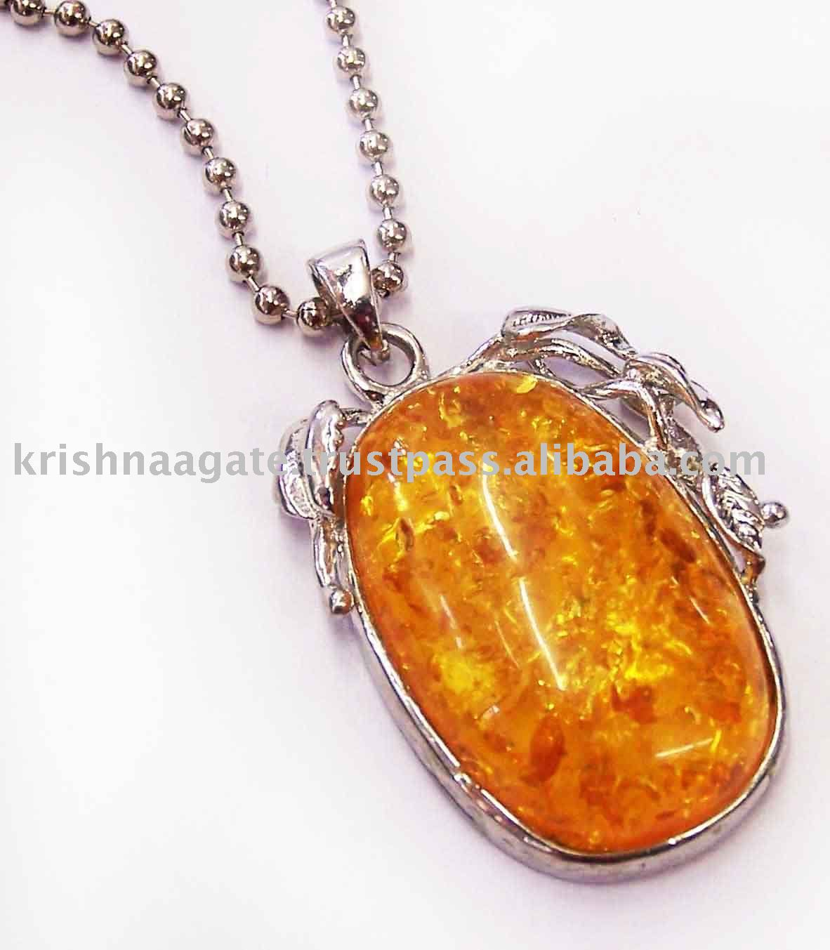 silver on detail pendant fashion alibaba amber semi precious pendants product buy com stone