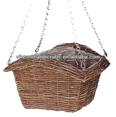 World source good quality hanging handcraft flower basket planter