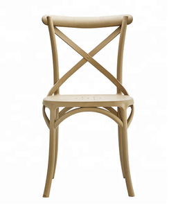 Rental Wedding Cross back chair Plastic Dining Chair for Restaurant
