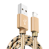 90 Degree Fast USB Game Cable ,L Bending Design Braided Cord for iPhone Micro Type-C Data Cable