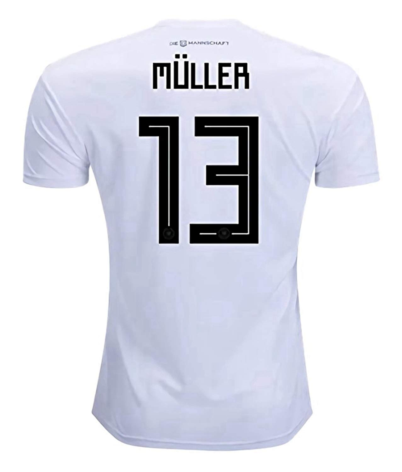 a38bcbc4ba6 Get Quotations · CampJuly 2018 World Cup Soccer Team Germany Muller 13 Home Men's  Jersey Color White