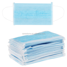 3 ply non-woven disposable PP face shield mask