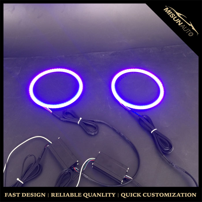 Multi Color turn signal Halo Ring Kit Headlight 130mm Lamp For BMW E36 E38 E39 E46 3 5 7 Series