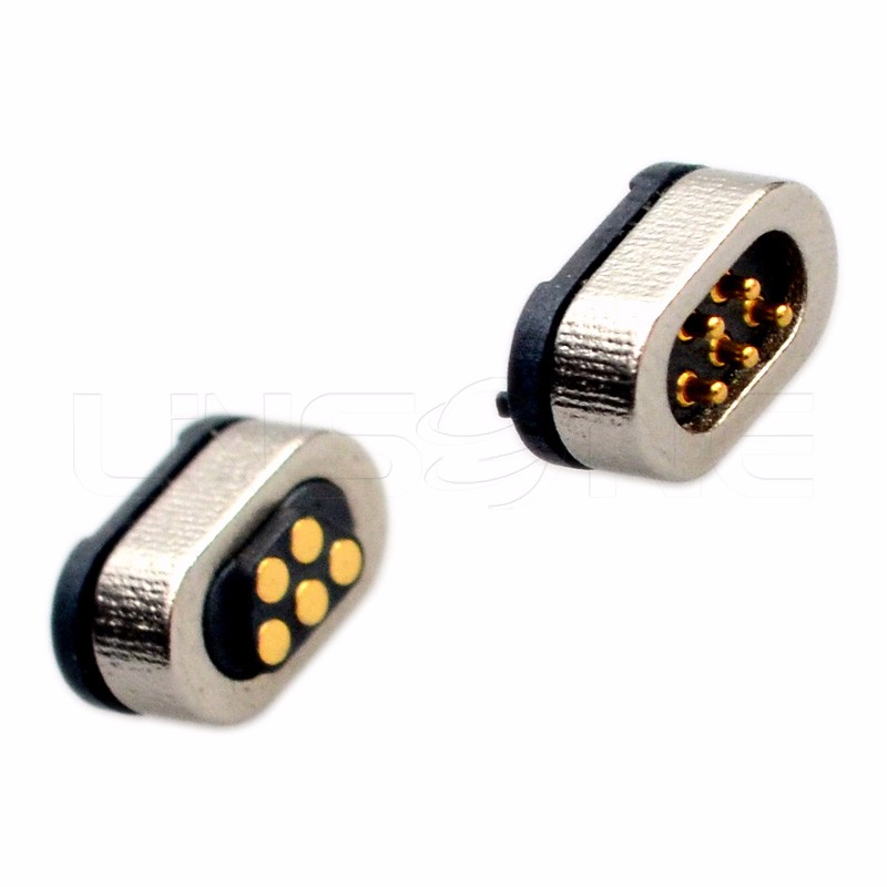 Circular Low Voltage Electrical Pogo 5 Pin Magnetic Header Connector ...