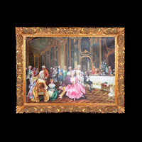 studio decor picture wall hanging painting classical style antique golden frame for wall decoration