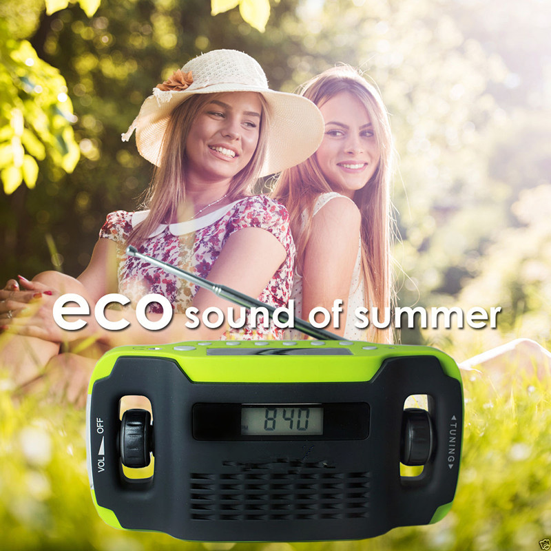 USA Amazon SOLAR POWER RADIO CAMPING emergency radio with LED light