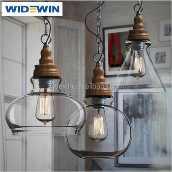 Different Shape Clear Glass Suspended Pendant Light For Retail ...