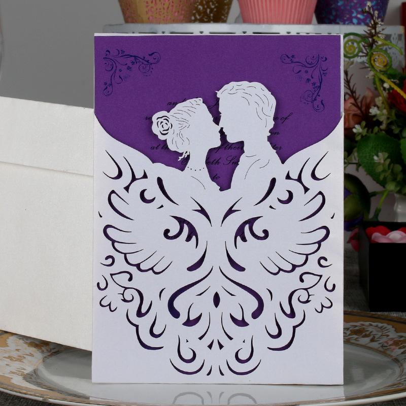 Venta al por mayor tarjetas de invitacion a matrimonio elegantes