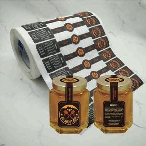 Custom Honey Private Label Printing Adhesive Jar Tamper Proof Seal Sticker