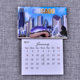Fridge magnets for advertising business wood epoxy calendar custom magnets save the date