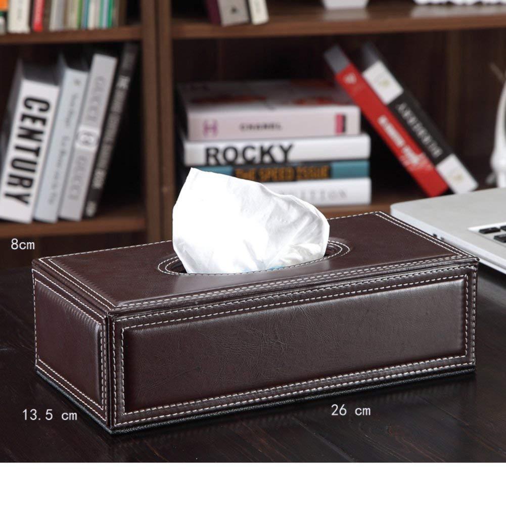 DHWJ Fashion car tissue box high-end leather tissue box-A