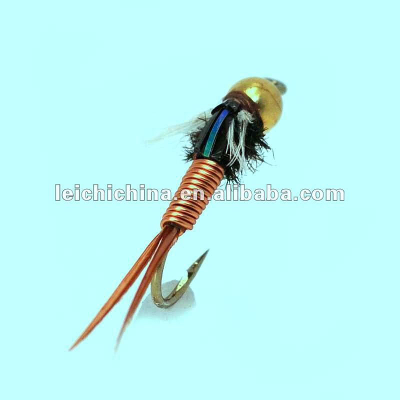 Super price and high quality fly fishing flies nymph BeadHead Copper John