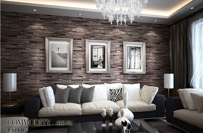 marrone mattoni carta da parati carte da parati. Black Bedroom Furniture Sets. Home Design Ideas