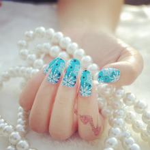 Minx Mail art decorations Christmas nails art Sticker Snowflakes Lace 3d Design nail sticker Foil Manicure Wraps Decals