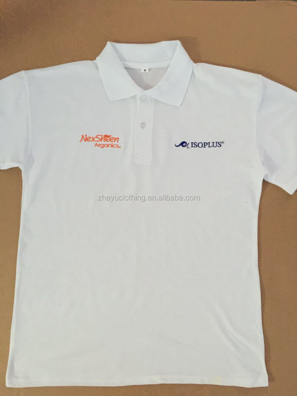 Grey Color Soft Pique Cotton Polyester Blend Polo T Shirt With Heat