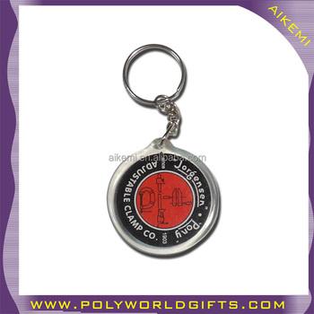 Round Shape Acrylic Plastic Keychain 927e03573