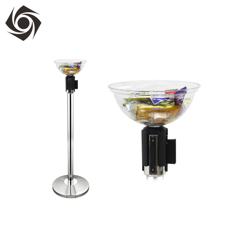 Acrylic Display Bowl for Rope//Tape Barrier System Queue Stand
