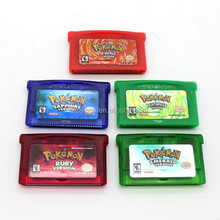 Free Shipping by DHL for Popular game cartridge for nintendo GBA pokemon games
