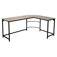 Computer Desk L Shaped Corner Desk Home Office Wood & Metal Laptop PC Table Writing Study Table
