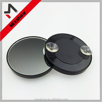 Plastic round 10x magnification makeup mirror