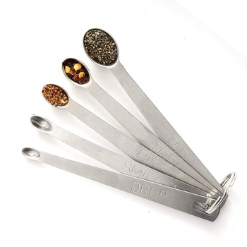 5 Pieces Mini Spoon Stainless Steel Measuring Spoon