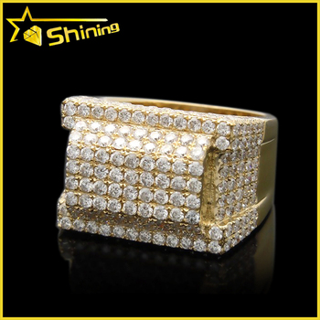 Gold Finish Lab Diamond Hip Hop Mens Iced Out Pinky Ring - Buy Iced Out  Pinky Ring 3d6f18f3d1e5