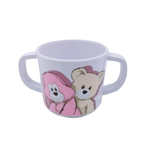 100% melamine double handle baby cups