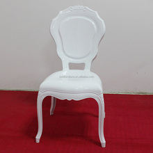 White Plastic Resin Wedding Princess Chair Royal Chair for Sale